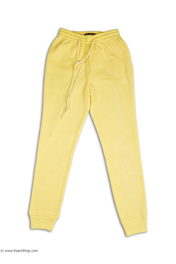 شلوار ورزشی زرد