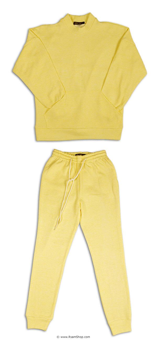 ست بلوز شلوار دخترانه زرد