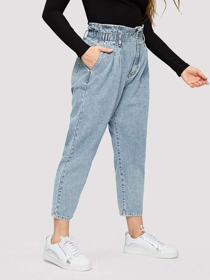 انواع شلوار زنانه قد نود جین